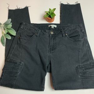 CAbi Black Cargo Skinny Jeans Size 8